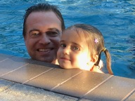 Daddy and me in the pool