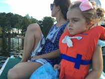 Boat ride with mommy